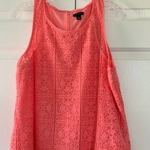 Ann Taylor Sleeveless Lace Top